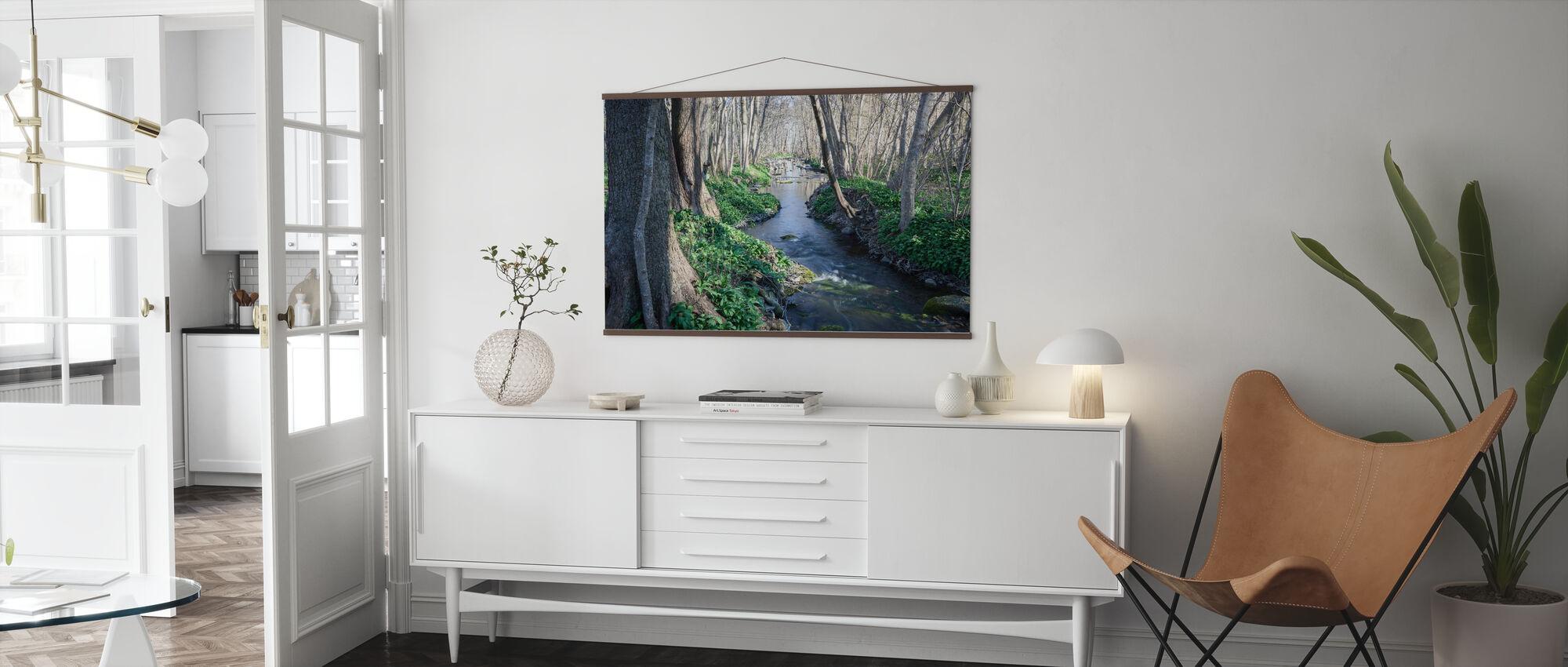 Frühling Fluss - Poster - Wohnzimmer