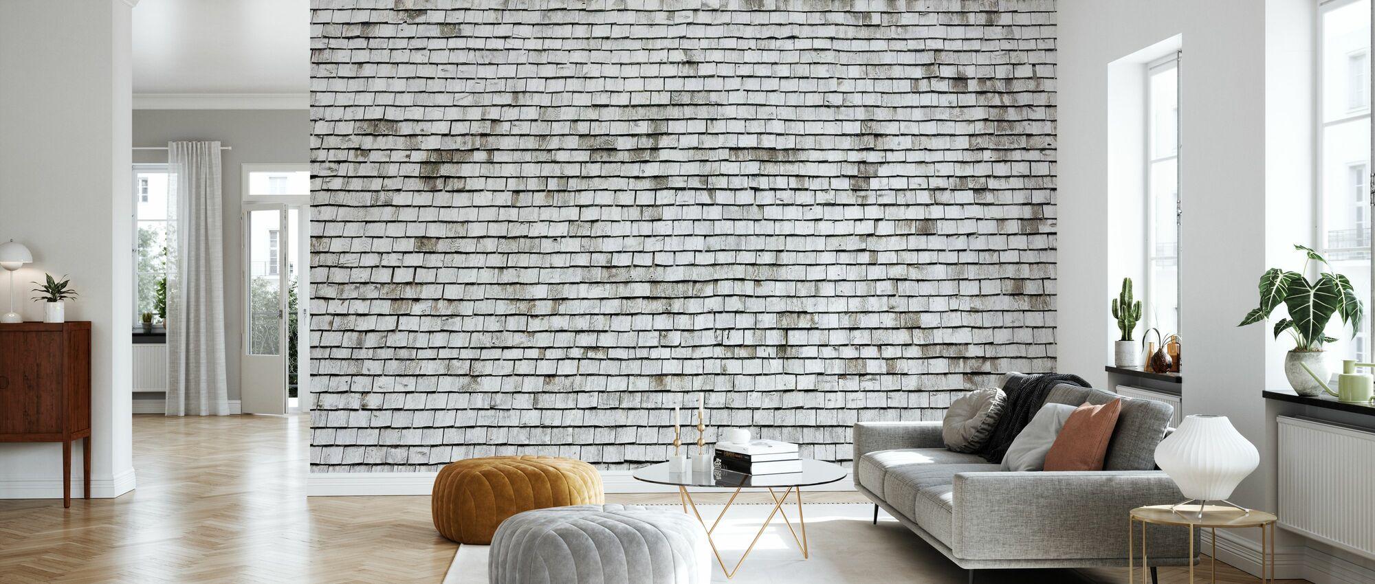 Shingled Roof - Wallpaper - Living Room