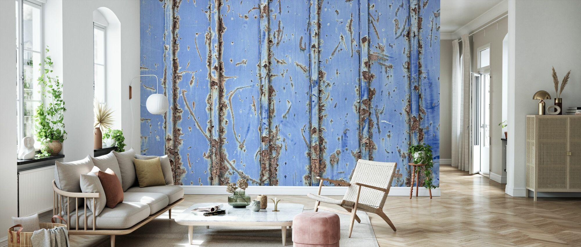 Steel Blue - Wallpaper - Living Room
