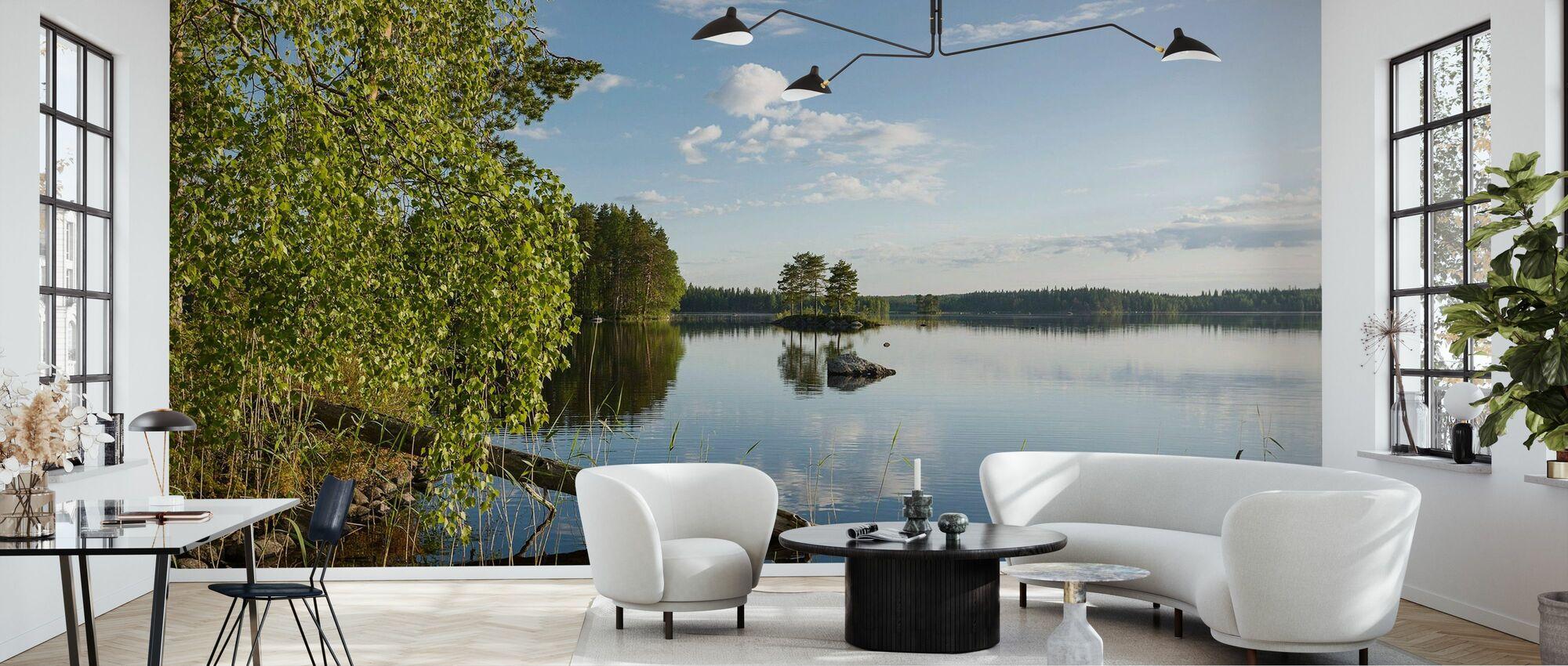Swedish Lake Landscape - Wallpaper - Living Room