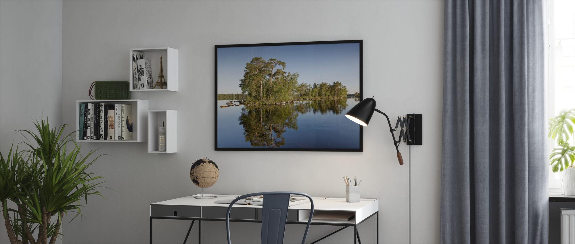 Swedish Summer Lake - Poster - Office