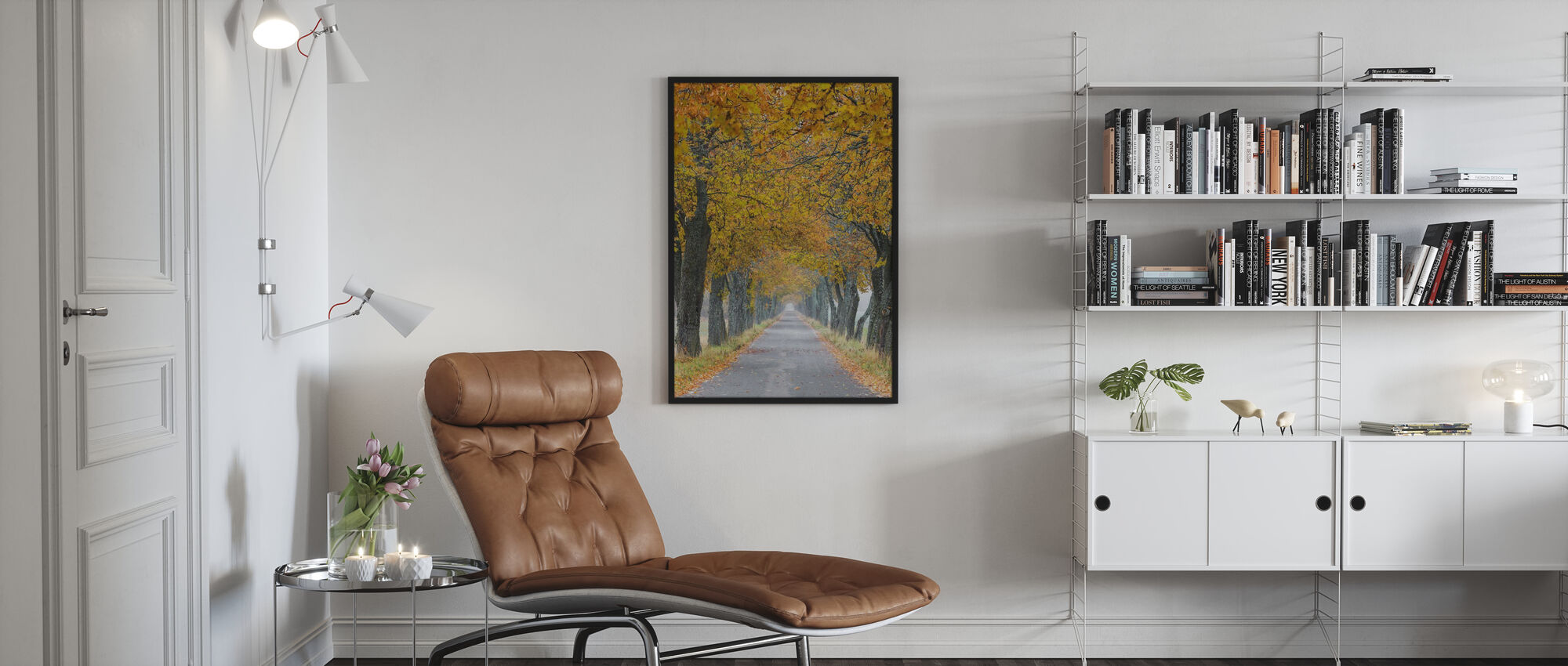 Autumn Avenue - Framed print - Living Room