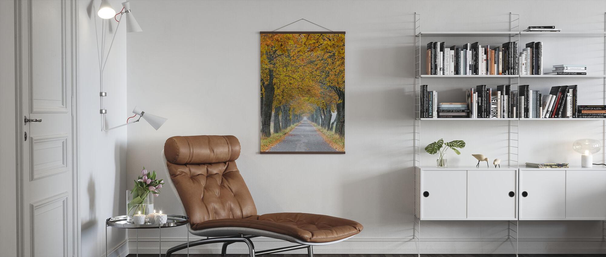 Autumn Avenue - Poster - Living Room