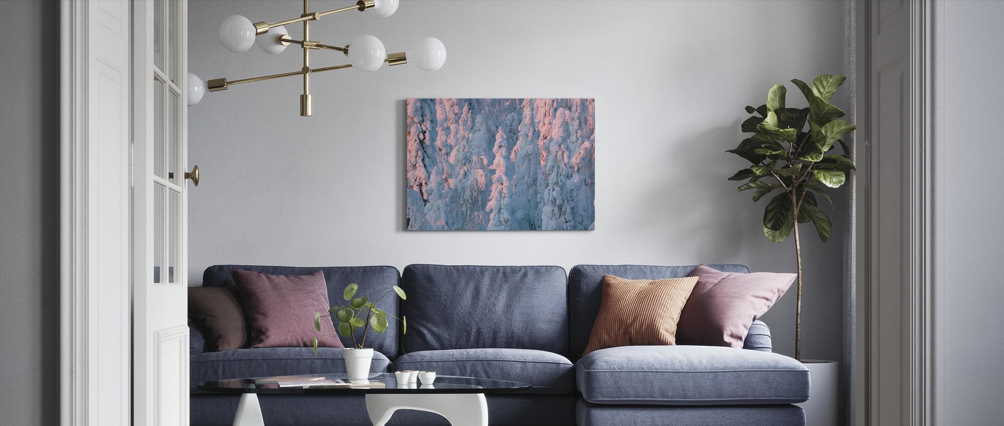 Lapland Winter Landscape - Canvas print - Living Room