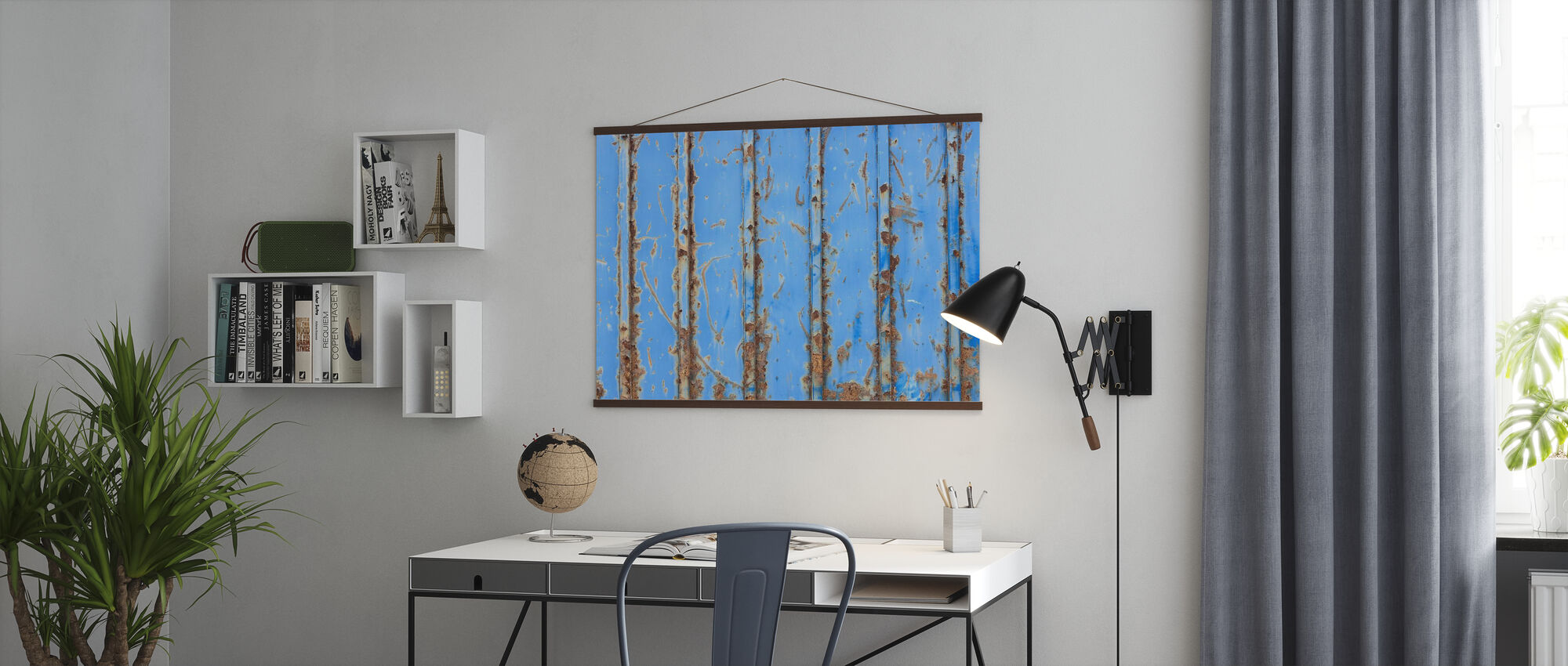 Steel Turquoise - Poster - Office