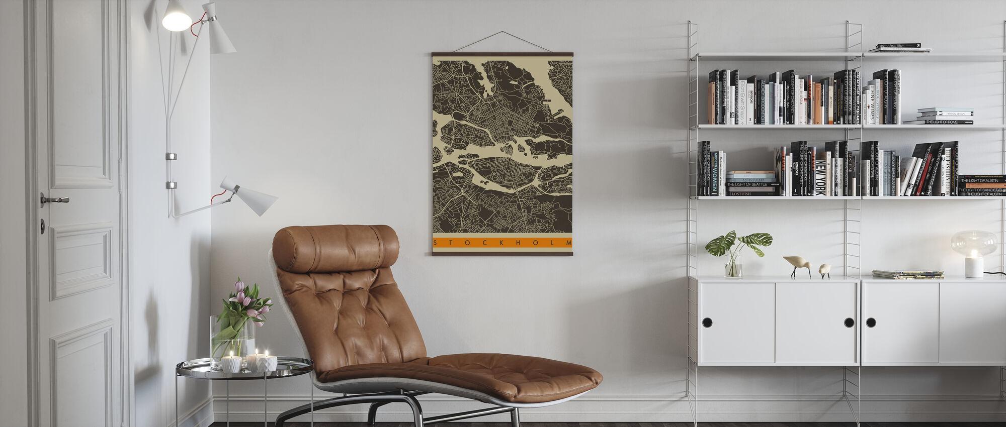 City Map - Stockholm - Poster - Living Room