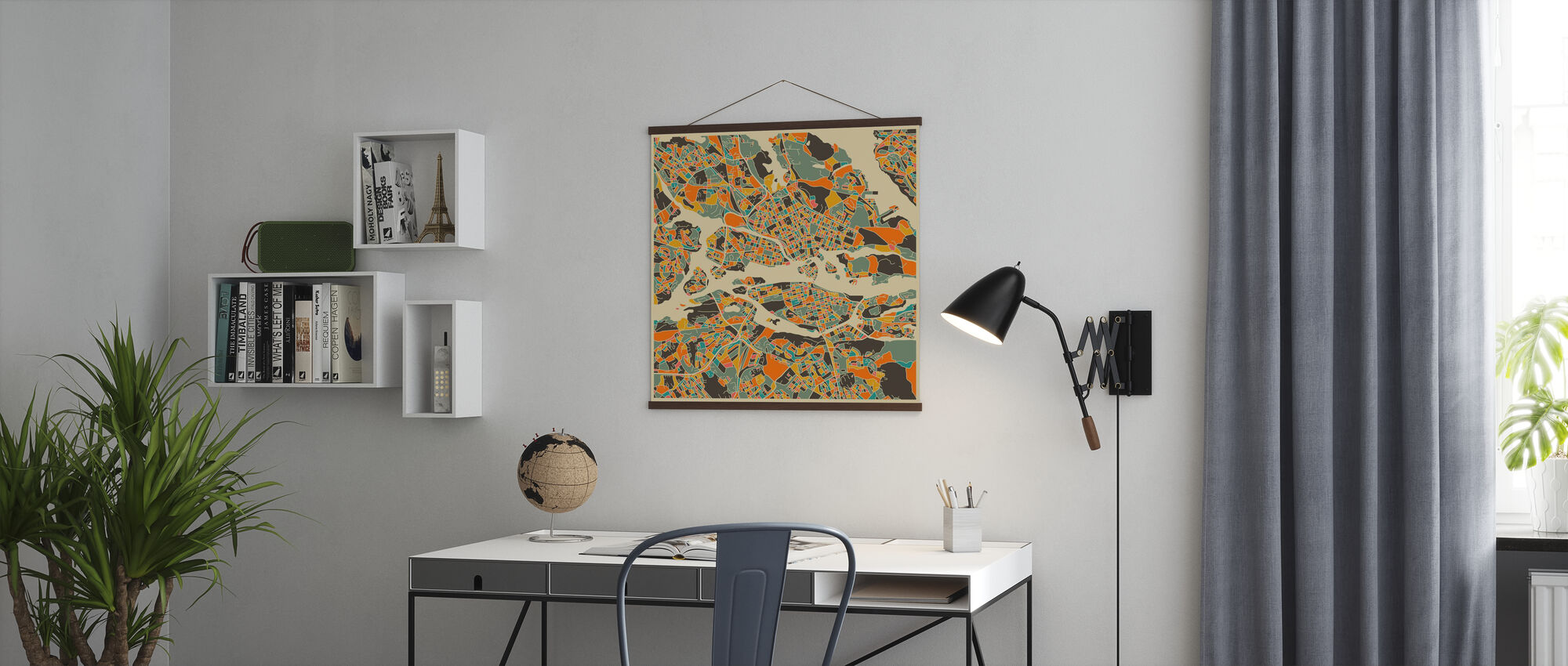 Multicolor Map - Stockholm - Poster - Office