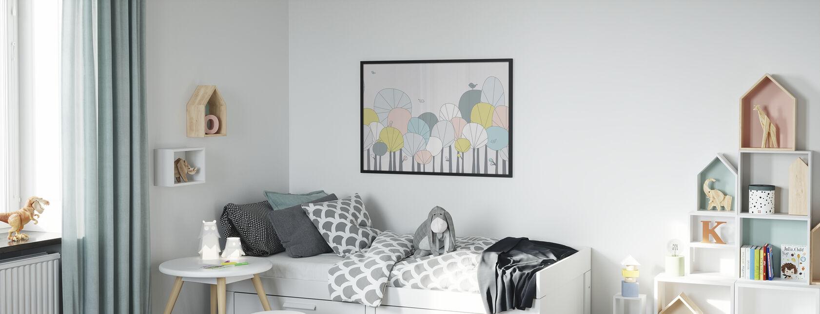Happy Forest - Pastell - Innrammet bilde - Barnerom