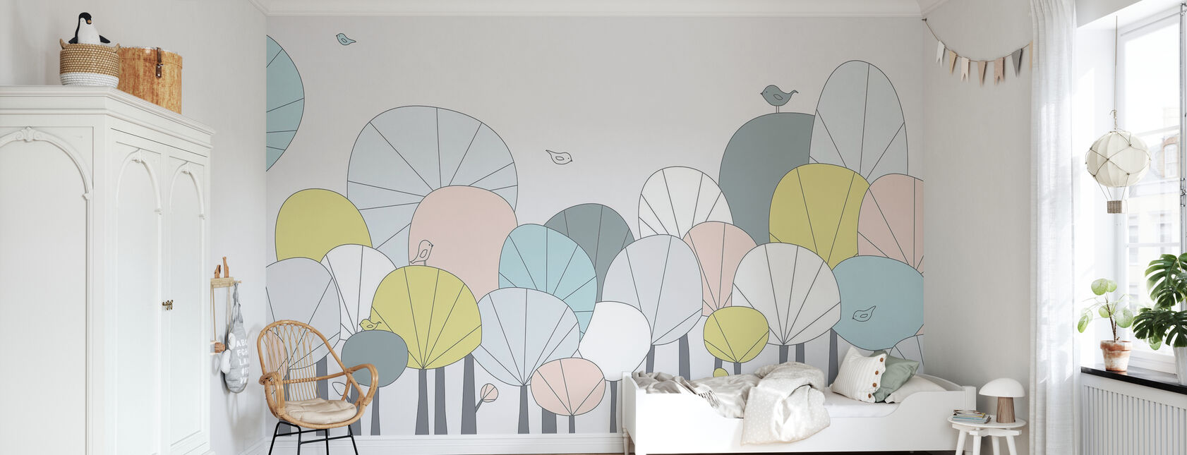 Happy Forest - Pastel - Wallpaper - Kids Room