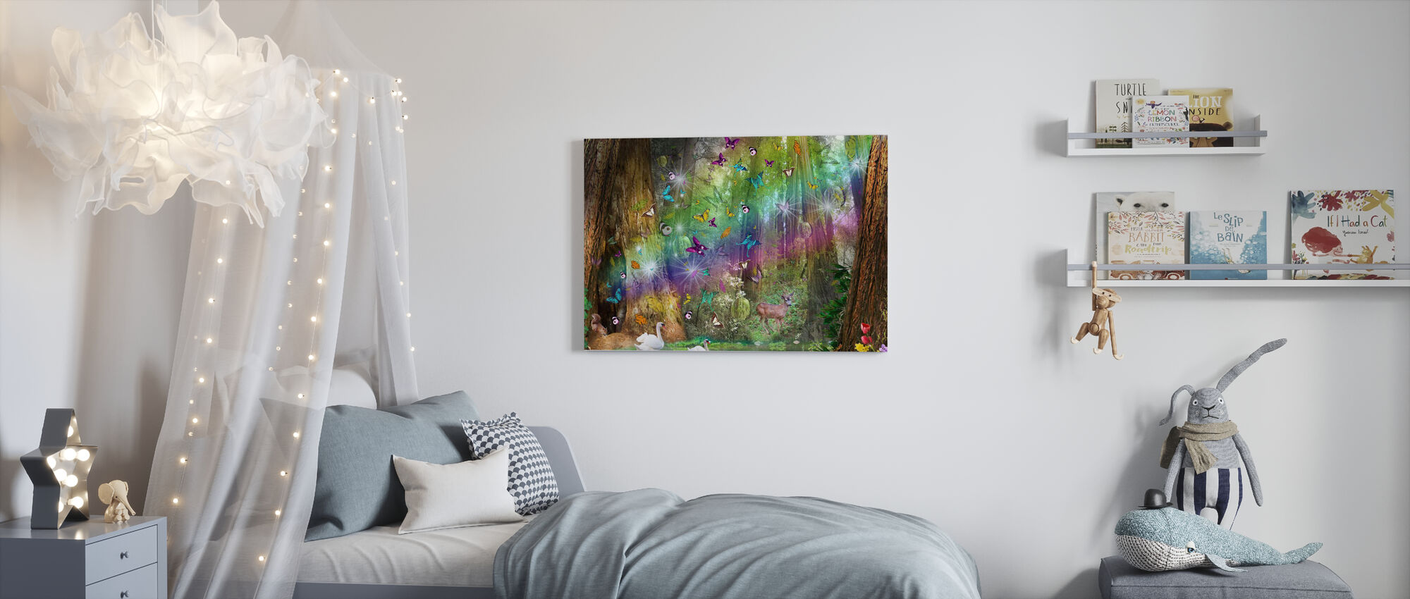 Red Wood Paradise - Canvas print - Kids Room