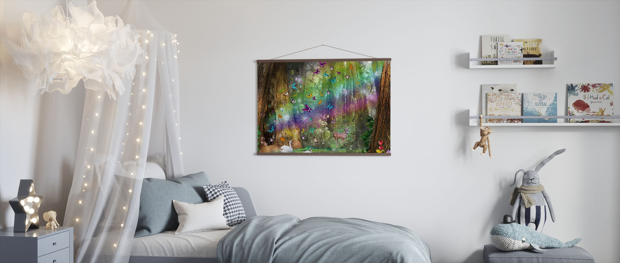 Roter Wald Paradies - Poster - Kinderzimmer