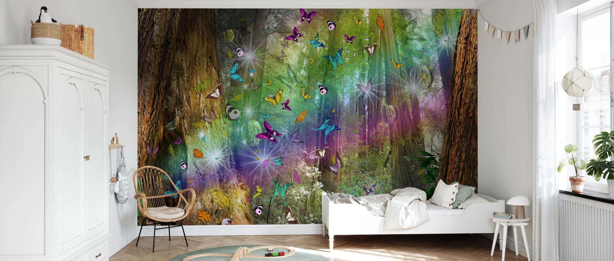 Red Wood Paradise - Wallpaper - Kids Room