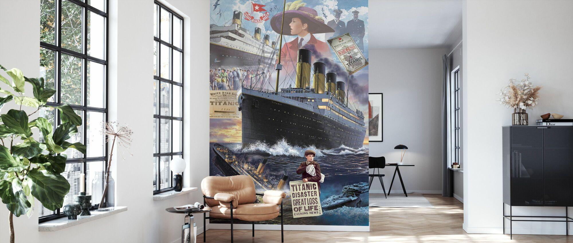 Titanic - Porträt - Tapete - Wohnzimmer