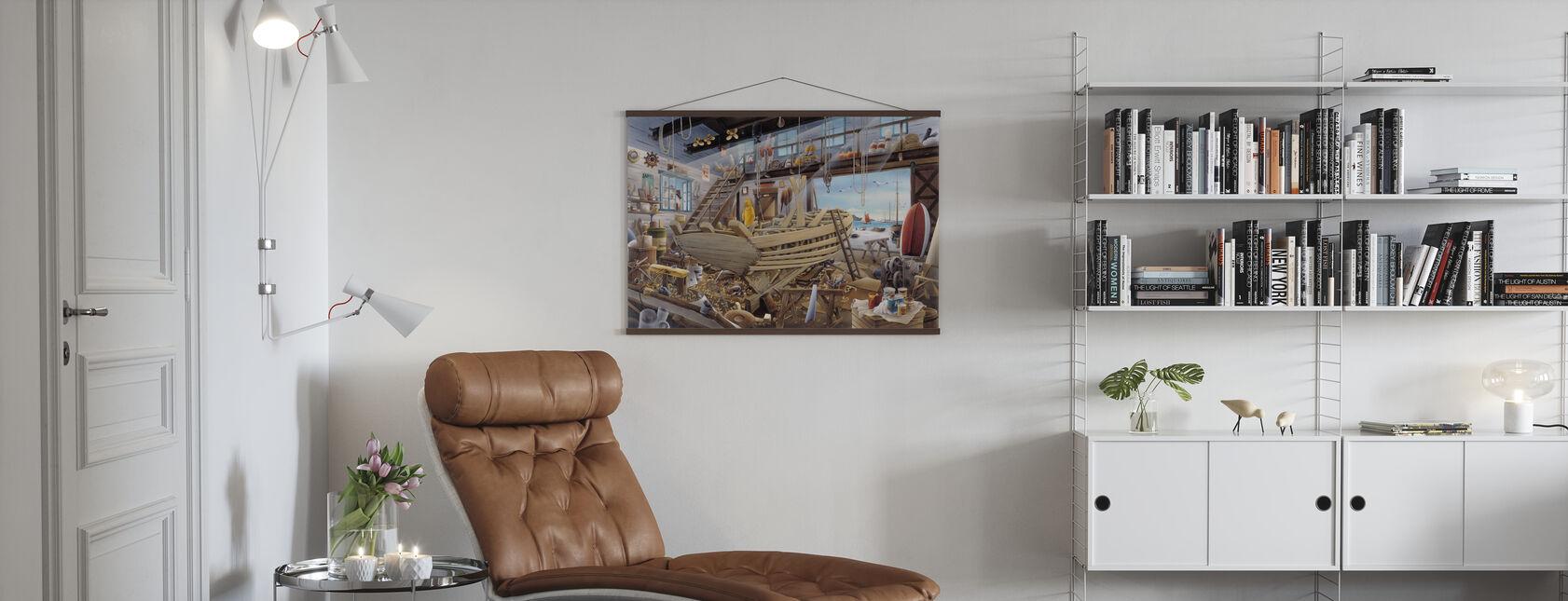 Patio del barco - Póster - Salón