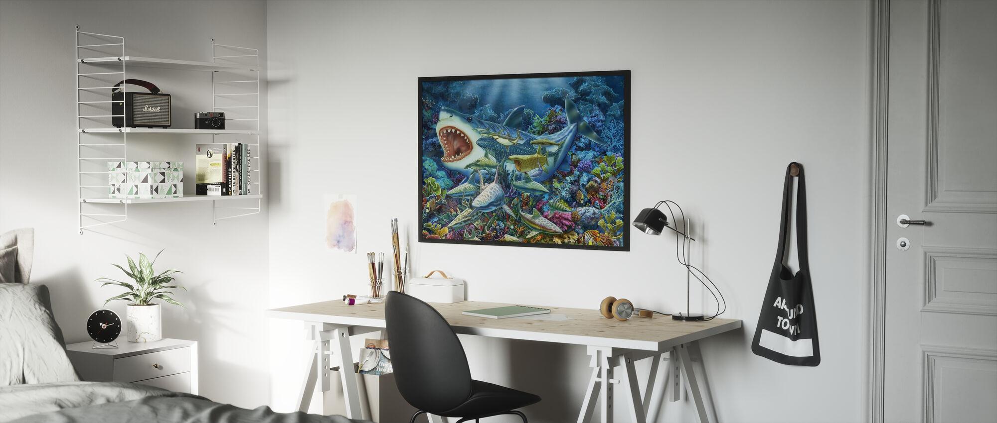 Avventura degli squali - Poster - Camera dei bambini