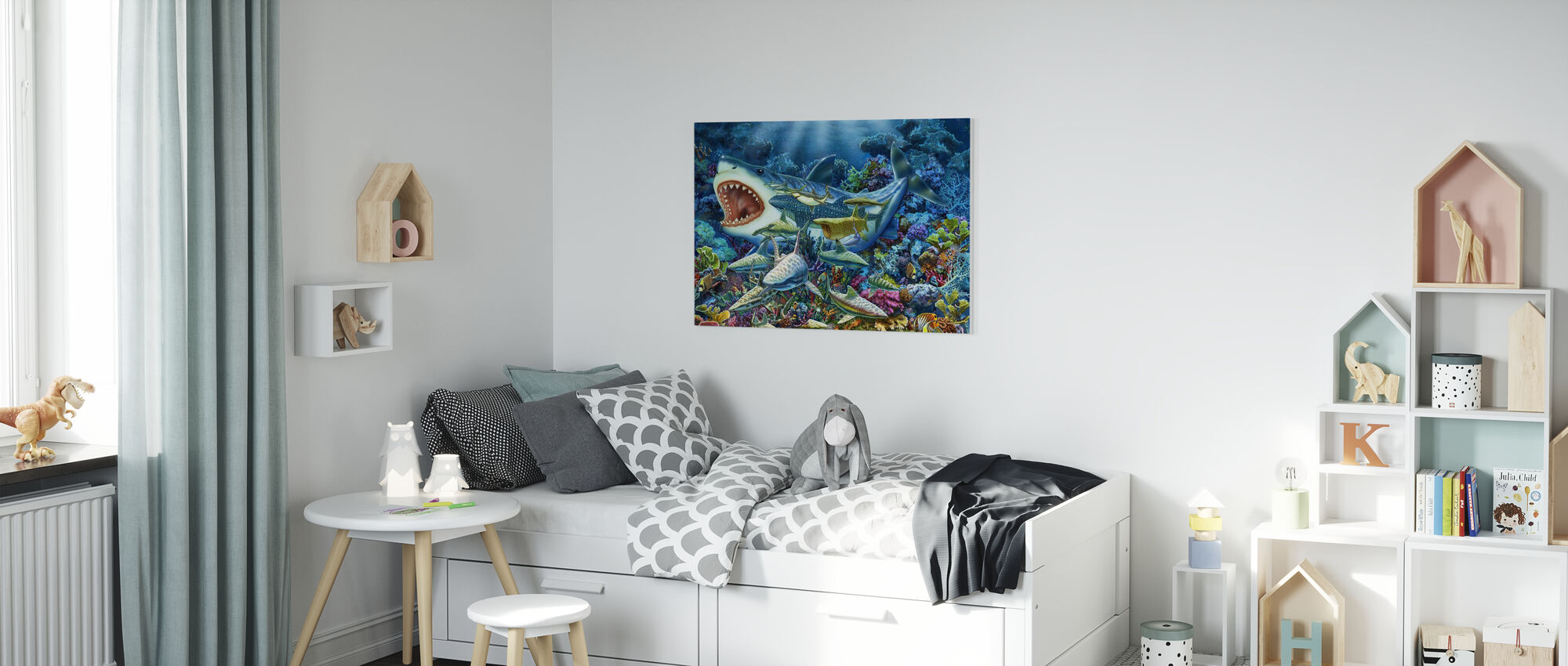 Shark Adventure - Canvas print - Kids Room