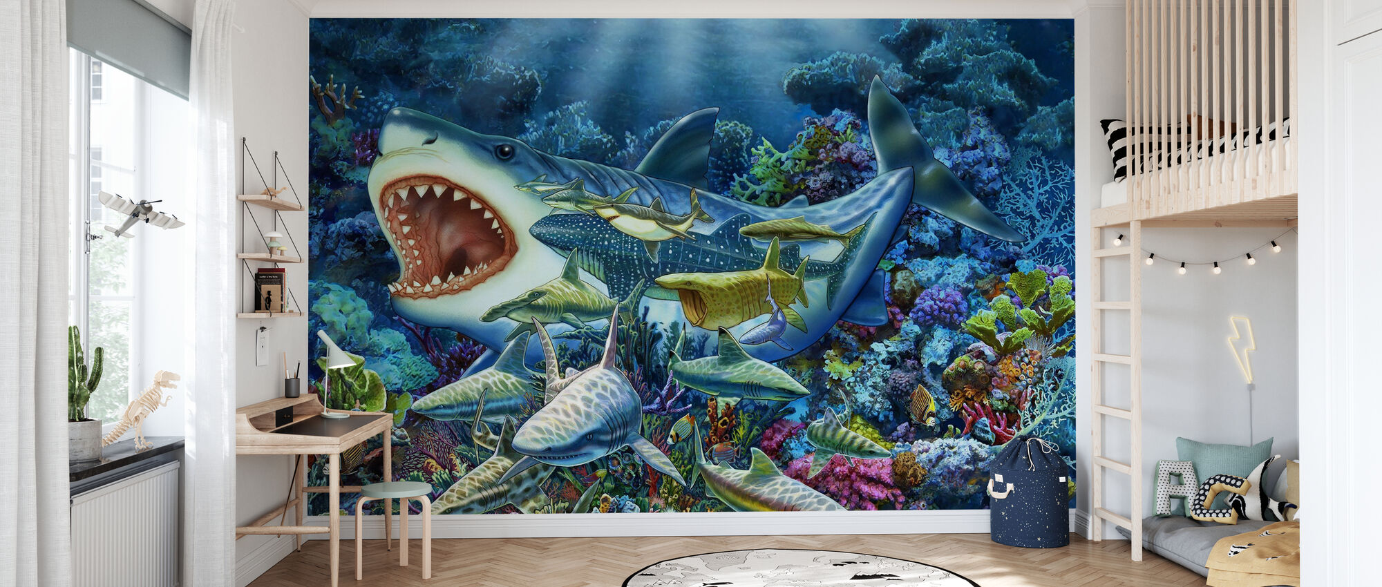 Shark Adventure - Wallpaper - Kids Room