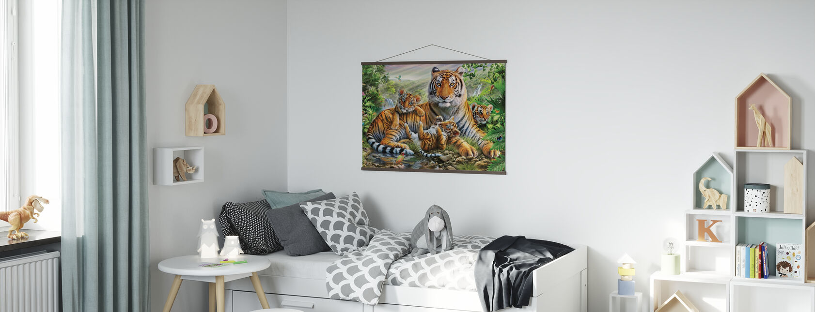 Tiger and Cubs - Poster - Kids Room