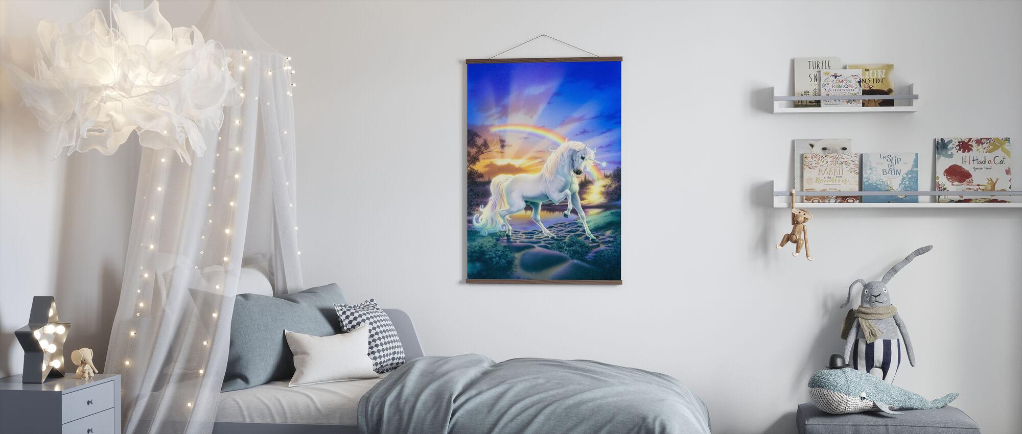 Unicorno arcobaleno - Poster - Camera dei bambini
