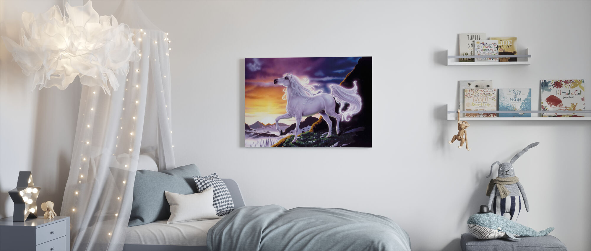 Mountain Fantasy Paard - Canvas print - Kinderkamer
