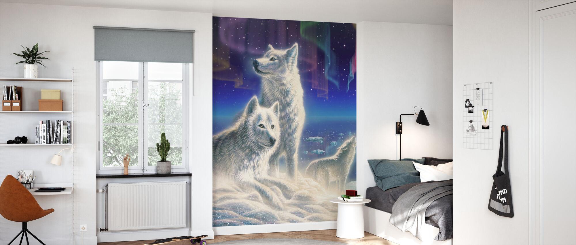 Artic Wolves - Wallpaper - Kids Room