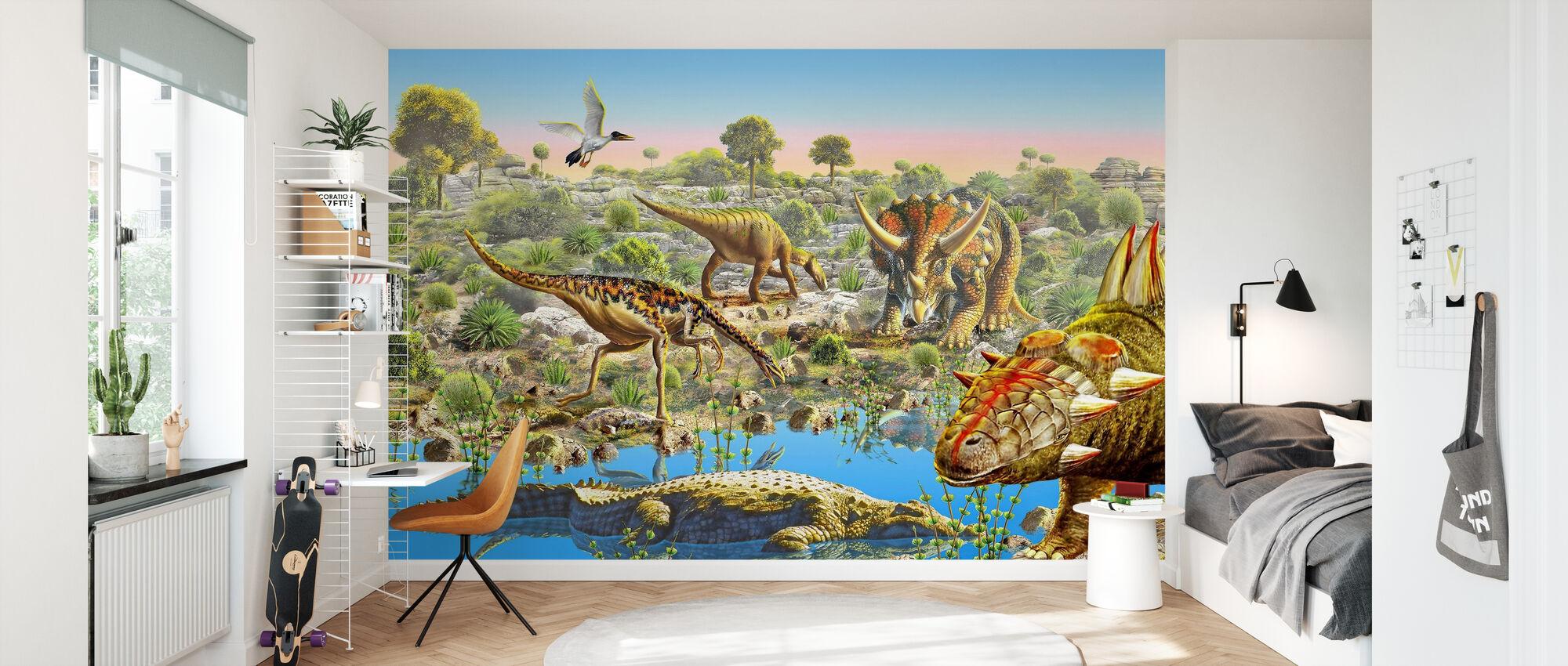Dinosaur Valley - Wallpaper - Kids Room