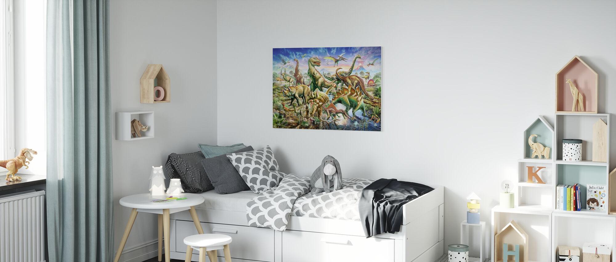 Dinoscene - Canvas print - Kids Room