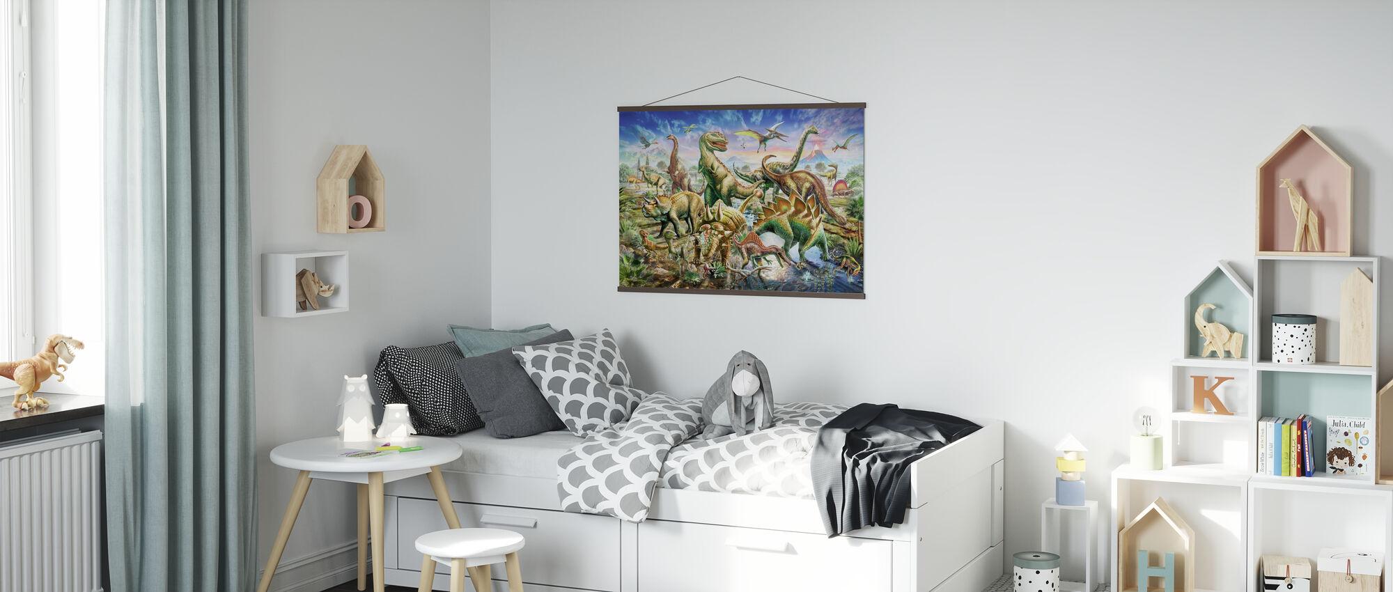 Dinoscene - Poster - Kinderzimmer