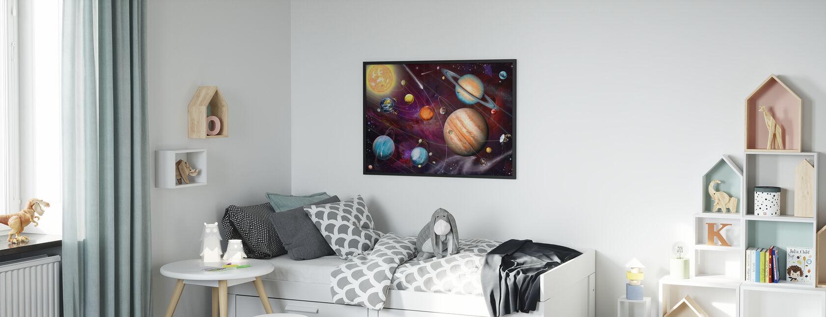 Aurinkokunta 2 - Kehystetty kuva - Lastenhuone