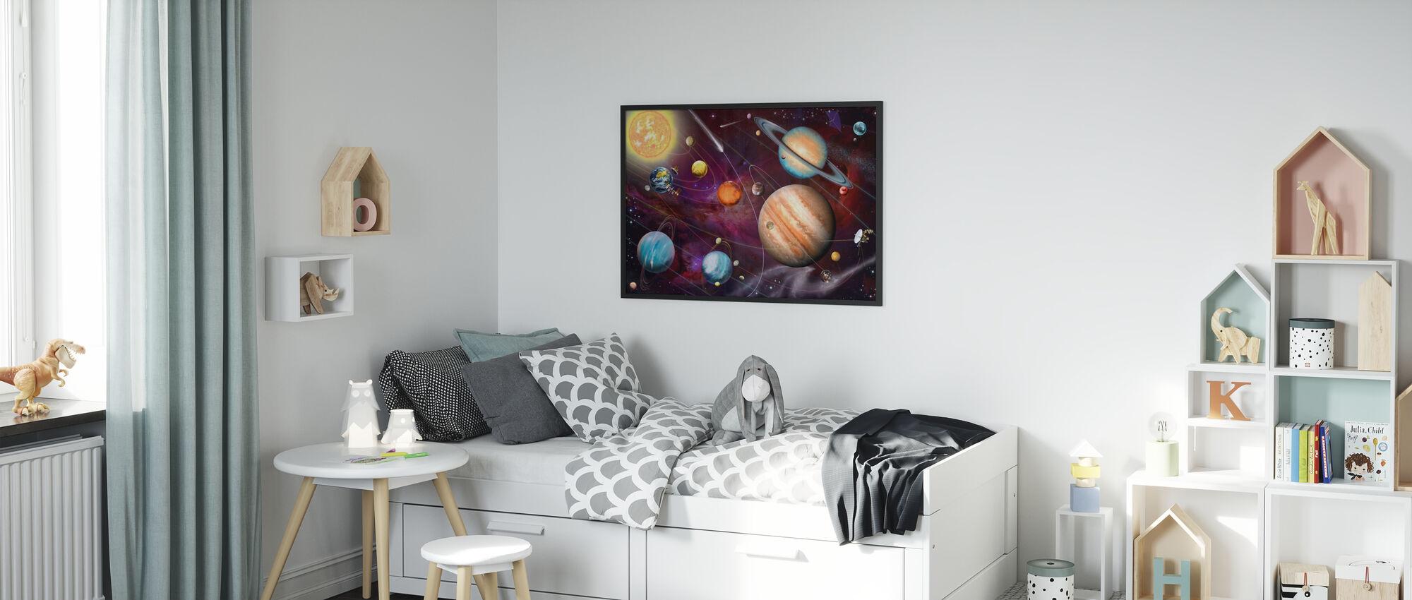 Zonnestelsel 2 - Ingelijste print - Kinderkamer