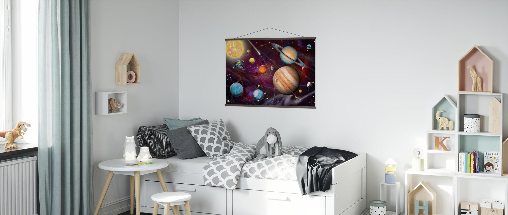 Solar System 2 - Poster - Kids Room