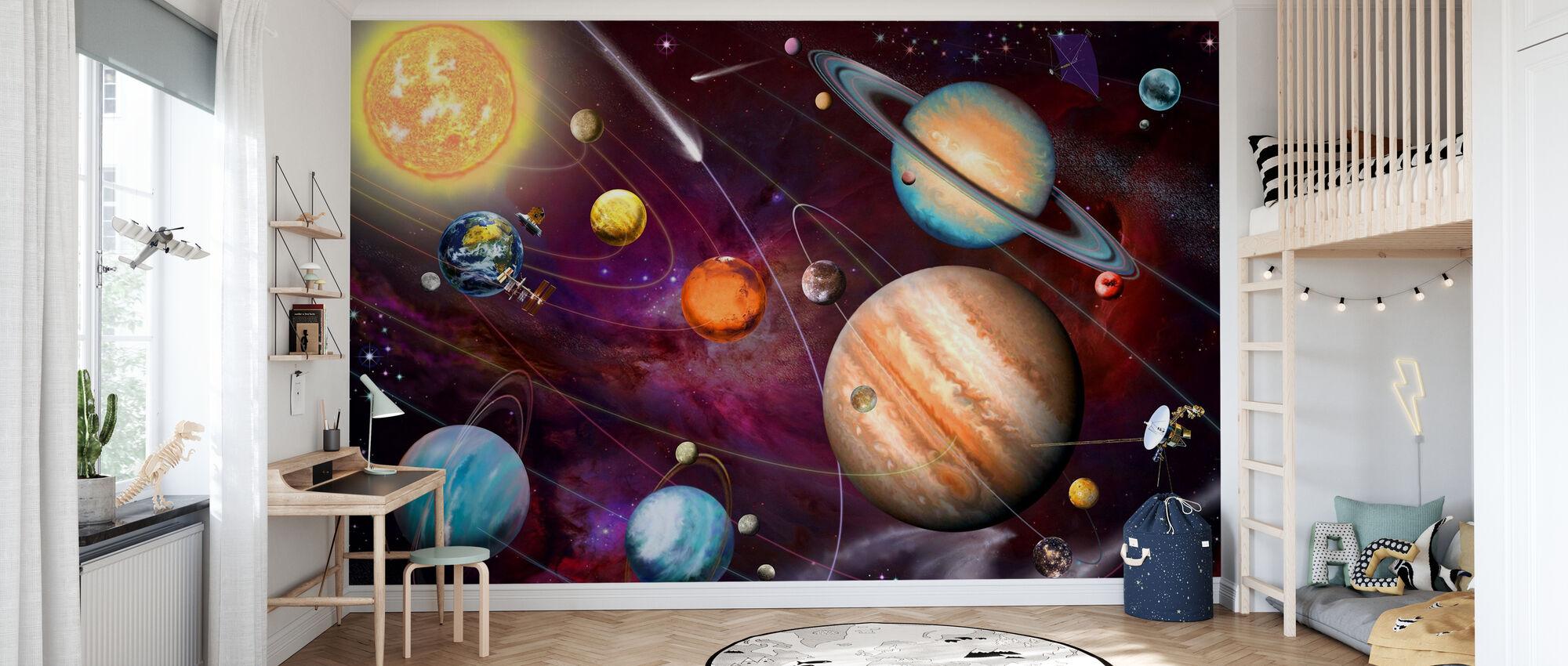 Solar System 2 - Wallpaper - Kids Room