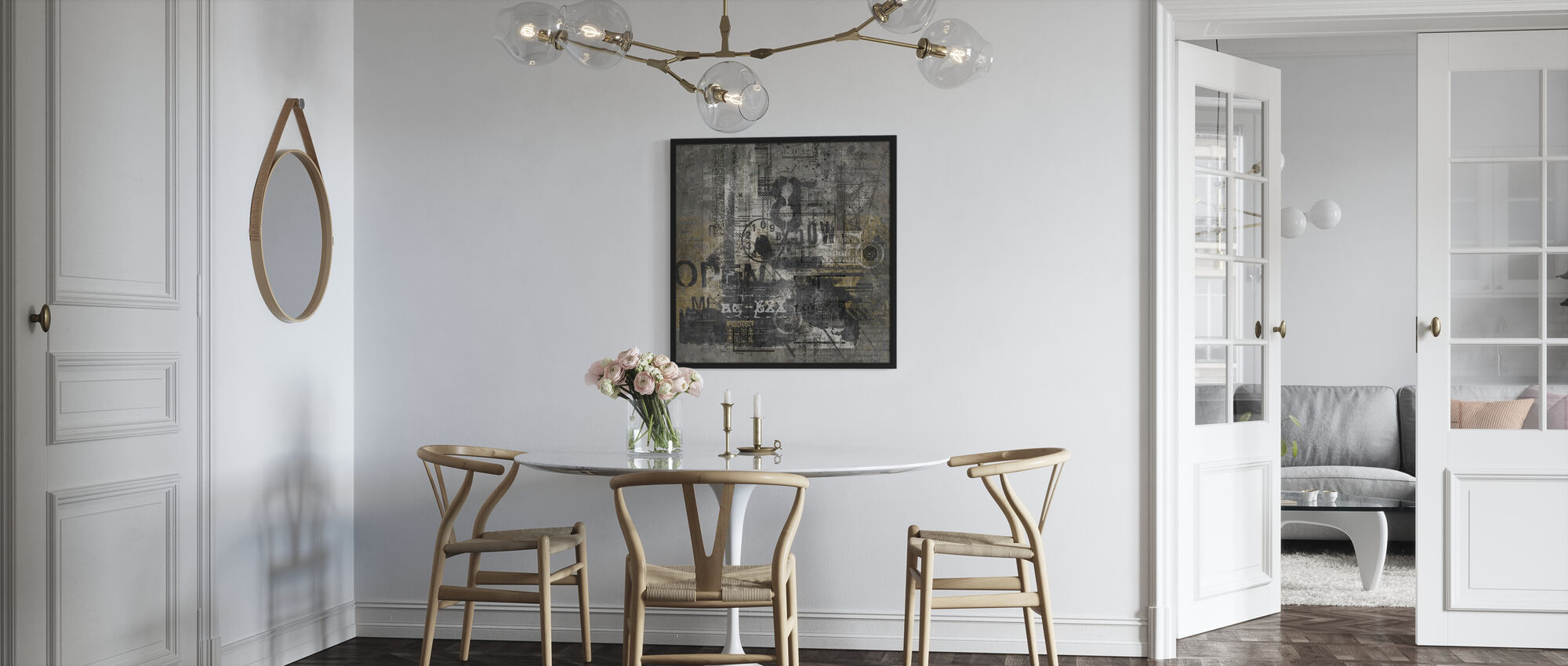 Abstract Grunge - Framed print - Kitchen