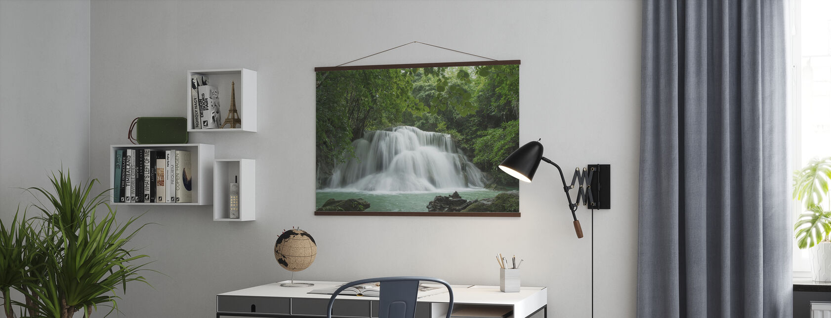 Beautiful Waterfall in Thailand - Poster - Office