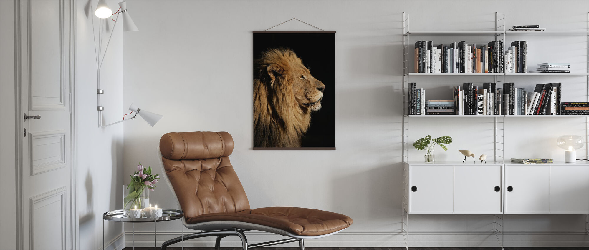 Big Male African Lion - Poster - Living Room