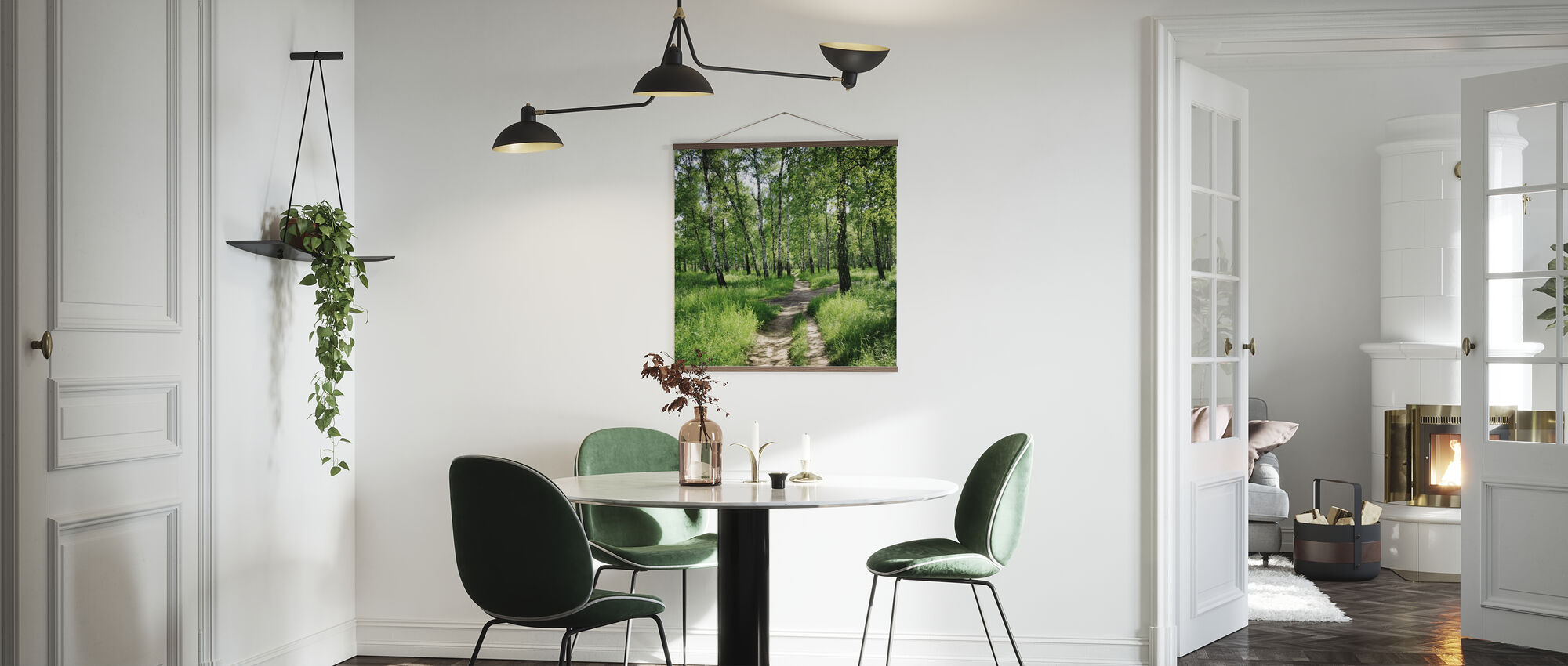 Birch Forest on Sunny day - Poster - Kitchen