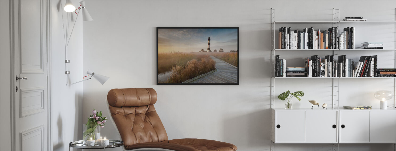 Lighthouse in North Carolina - Poster - Living Room