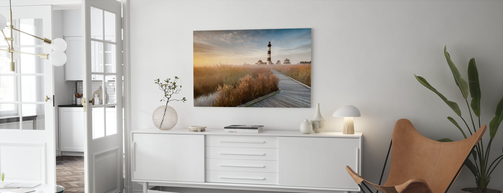 Fyrtårn i North Carolina - Billede på lærred - Stue