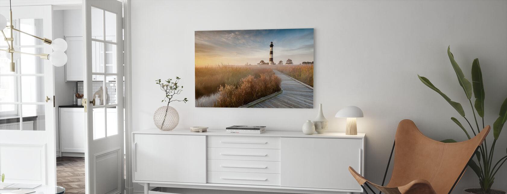 Vuurtoren in North Carolina - Canvas print - Woonkamer