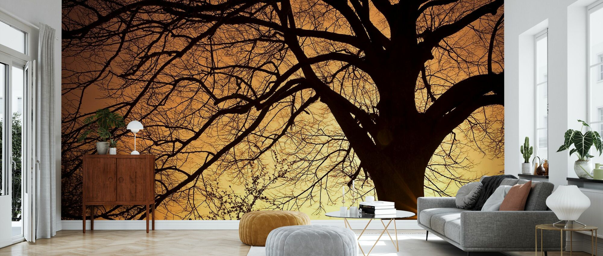 Silouette of a Willow Tree - Wallpaper - Living Room
