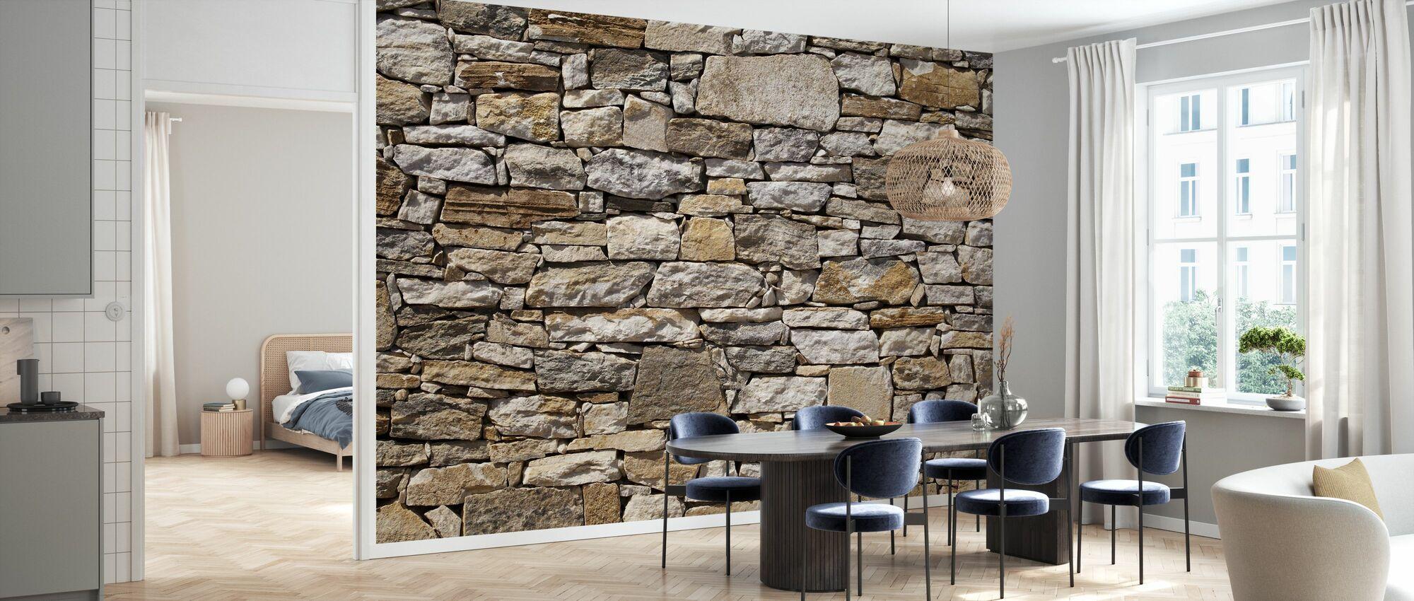 Stenen muur achtergrond - Behang - Keuken