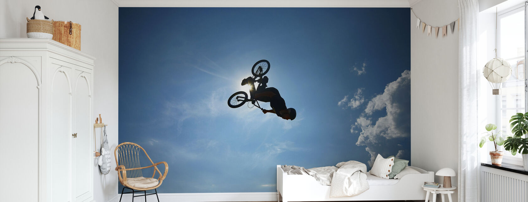 BMX Backflip - Behang - Kinderkamer