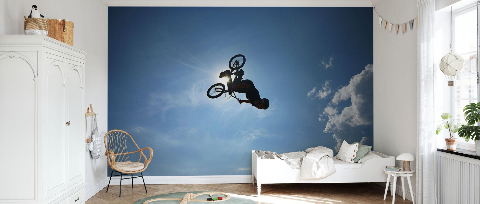BMX Backflip - Behang - Kinderkamer