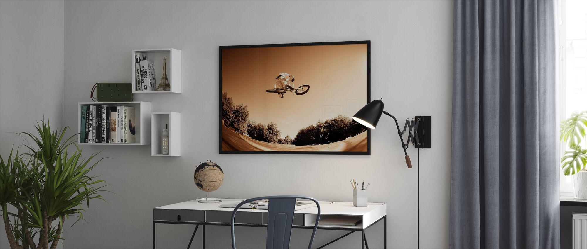 High BMX Jump - Framed print - Office