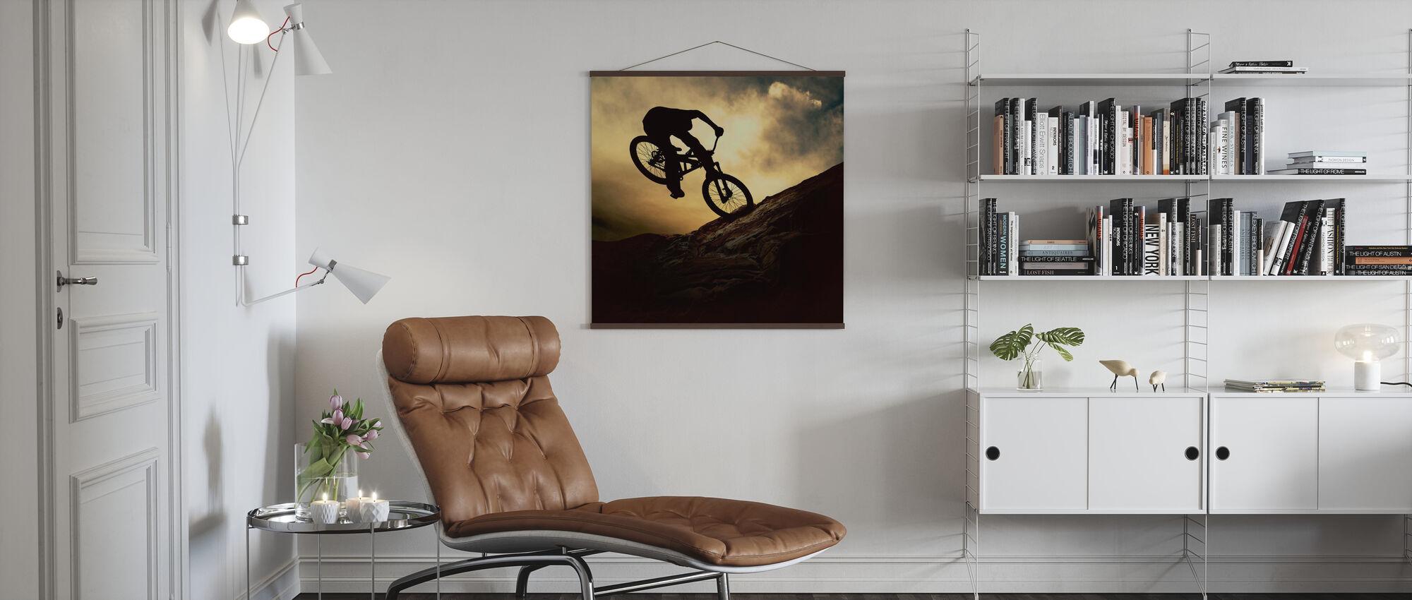 Mountainbike rytter - Plakat - Stue