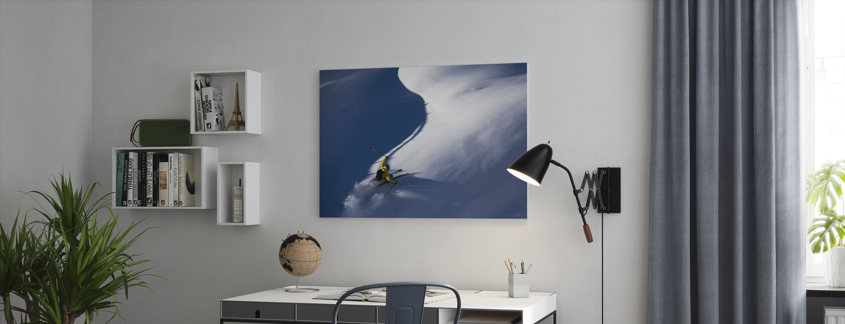 Powder Snow Skiing - Canvas print - Office