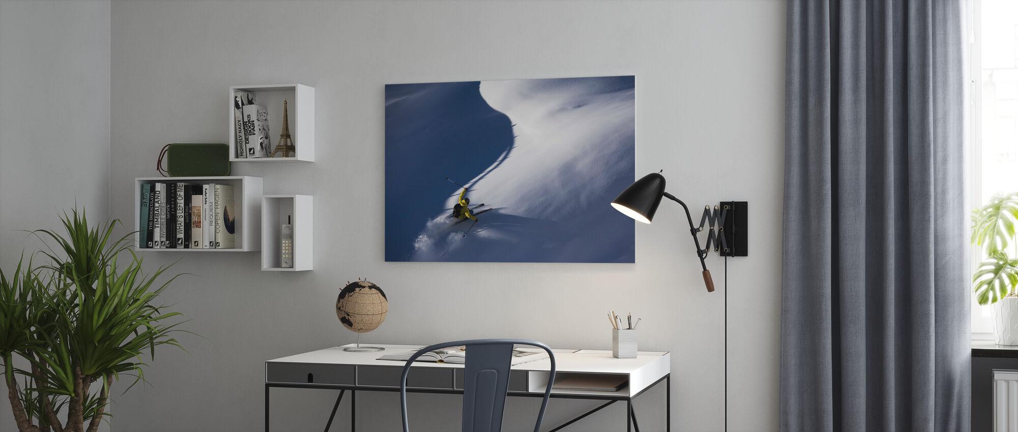 Esquí de nieve en polvo - Lienzo - Oficina