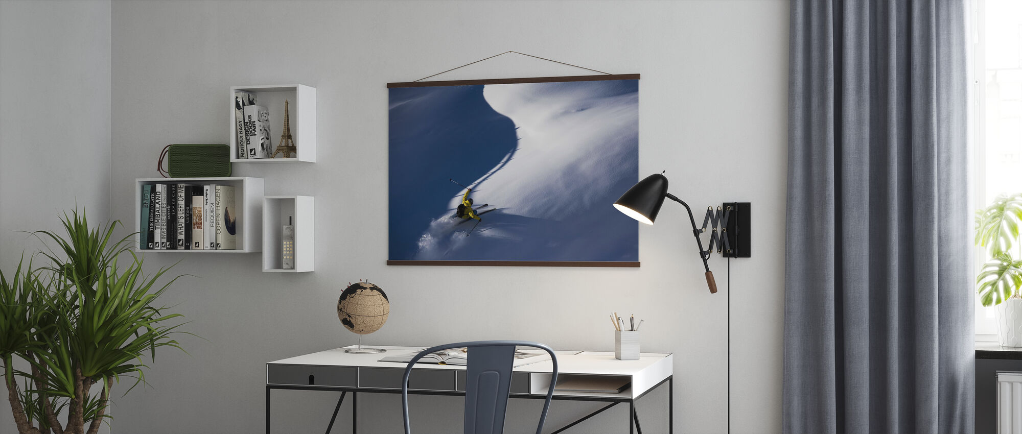 Powder Snow Ski - Poster - Büro