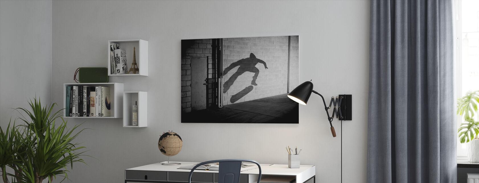 Shadow Skateboarder - Impression sur toile - Bureau