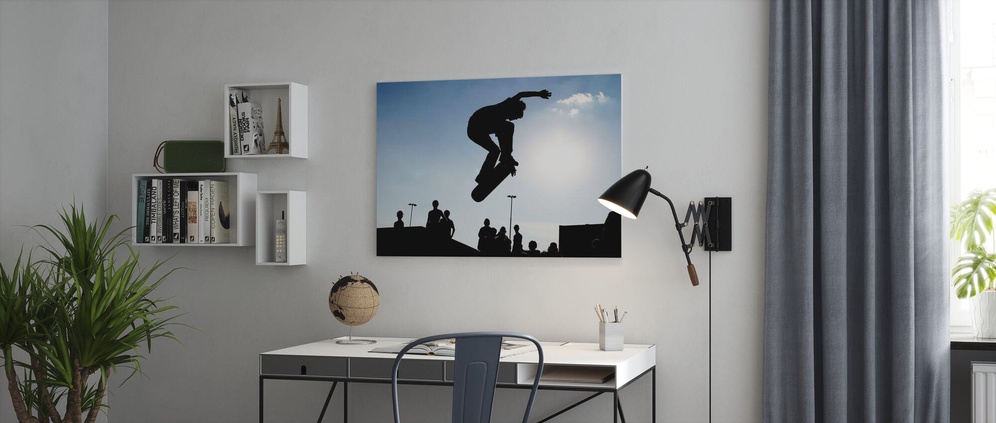 Skateboard Jump - Canvas print - Office